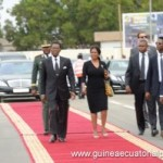 President and First Lady of Equatorial Guinea on red carpet