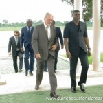 The Secretary of State accompanied by members of COCAN-Gabon