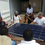 Solar panels are specially manufactured for MAECI by NESL.  MAECI & their technology partners arehelping bring electricity to the Equatorial Guinea province.